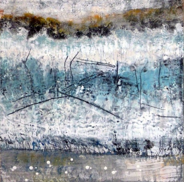 pat gerkin - encaustic paintings and sculptures