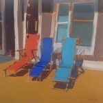 Beach Chairs16x20oil